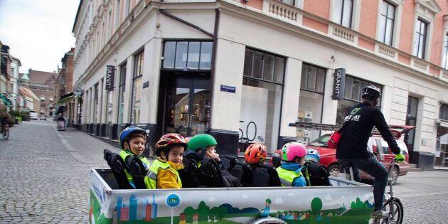 Succé för den miljövänliga cykelbussen!
