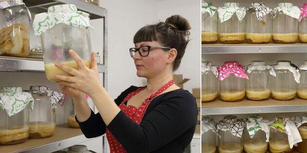 Fermenterad läsk: Hon har nyttiga bakterier som affärsidé