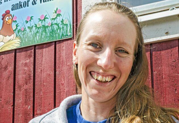 Vaktelägg, men även ägg från ankor och höns, säljs i gårdsbutiken som är en satsning Anna Carlevad gjorde under hösten.
