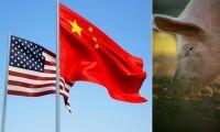 Kina tar bort tullar på sojabönor och fläsk från USA