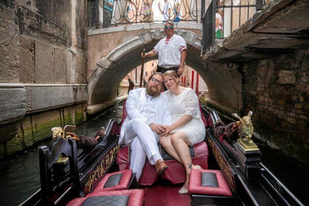 I augusti i år gifte sig Markus och Lisa. Bröllopsresan gick till Venedig.