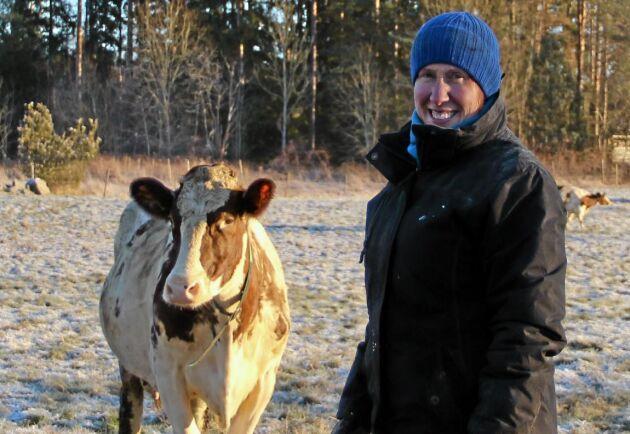 Elin Torstensson, mjölkproducent i Österbybruk.