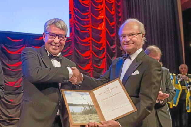 Utvecklingen av tomografin gjorde att Federico Giudiceandrea fick motta Marcus Wallenberg-priset.