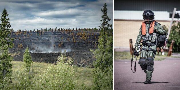 Provbombningen i Trängslet kan ha ökat branden
