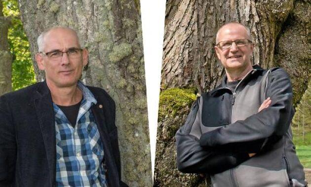 Fotomontage, Mikael Bäckström och Palle Borgström.