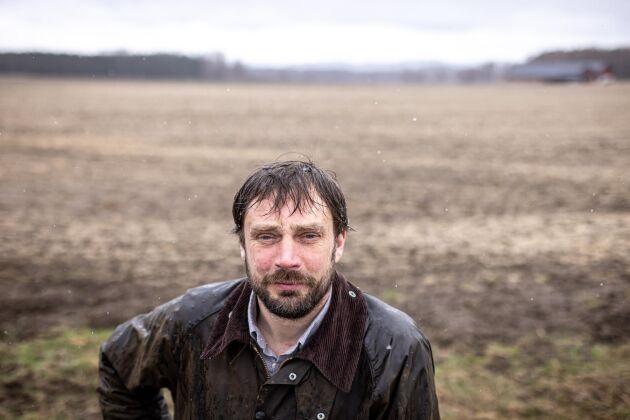 Henrik Frykberger förlorade hela sin höstveteareal när kylan slog till.