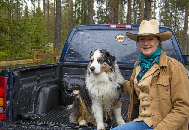Hunden Jack, en australian shepherd, är Monique Vermeers bästa vän och vapendragare.