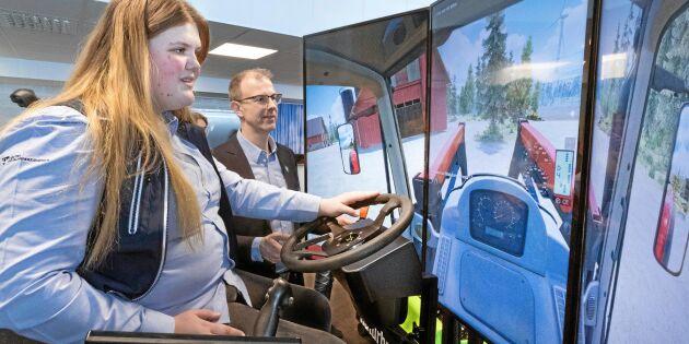 Övar att köra maskiner i alla väder