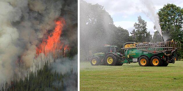 Lantbrukarna sluter upp för att stoppa bränderna