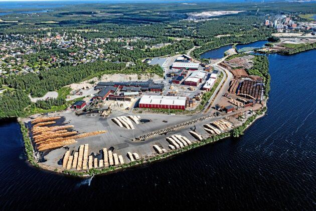SCA:s sågverk i Munksund utanför Piteå.