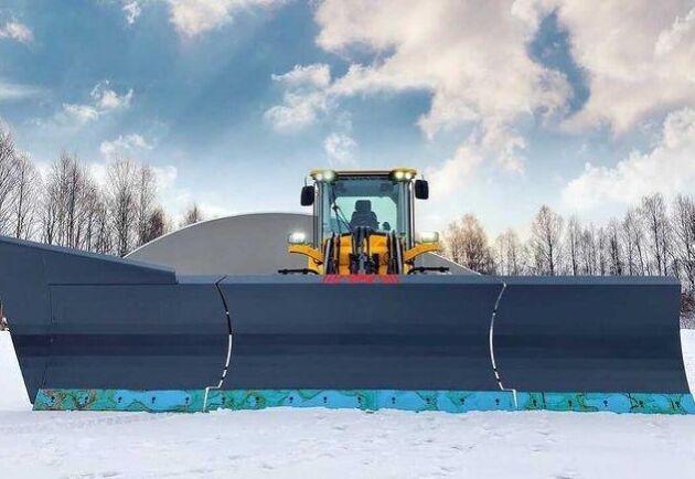 Snöbladet väger 2,3 ton.