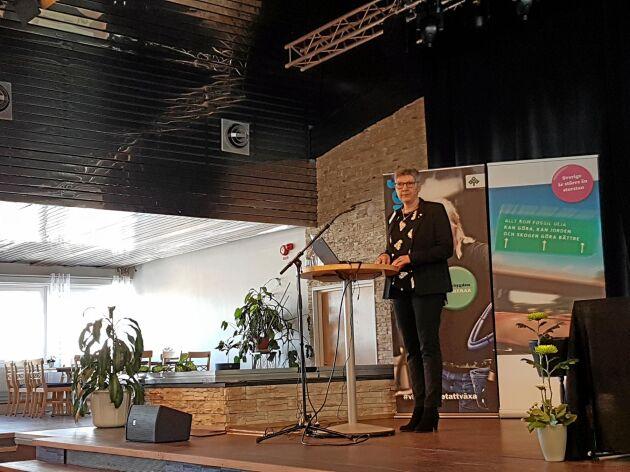 Gunilla Kjellsson återvaldes som ordförande för LRF Västernorrland.
