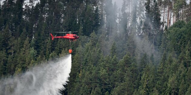 Historiskt helikopteravtal mot skogsbränder