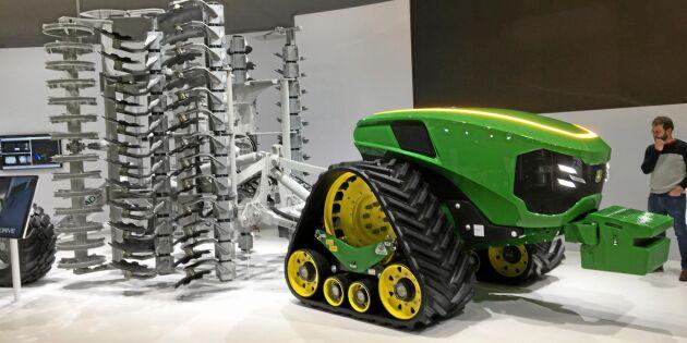 Sachen testar autonoma traktorer och 5G