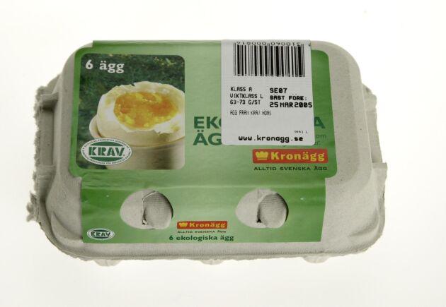 Merpriset i matbutikerna för bland annat ekologiska ägg var i det närmaste oförändrat.