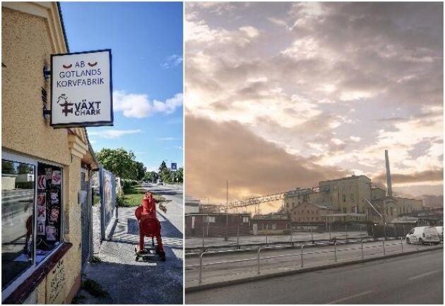 """Många väljer att handla direkt i """"korverian"""" gårdsbutiken i Roma på Gotland där kunderna kan välja på massor av olika sorters korvar som hela tiden byts. Gamla Sockerbruket i Roma är lokaler med lång historia där många nya företag har etablerat sig."""