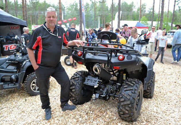"""Made for Sweden"", säger Johan Tapper om TGBs nya ATV med stel bakaxel."
