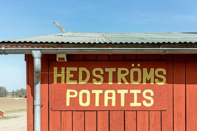 Hedströms potatis är ett begrepp i området sedan Tomas pappa Folke Hedström drog i gång verksamheten på 1960-talet.