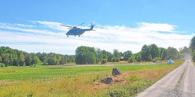 Civila helikoptrar viktiga vid skogsbränder