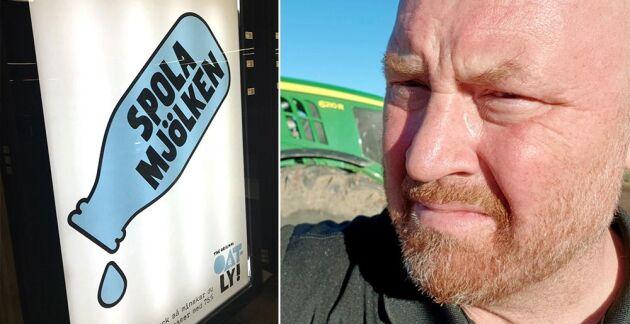 Oatlys reklamkampanj spär på bilden av att lantbruket är den stora boven i klimatfrågan när vi egentligen är en del av lösningen, säger Joakim Furhoff, som driver en växtodlingsgård i Västergötland.