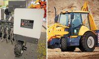 Robotti tar plats på maskinhall och nya däck från Alliance