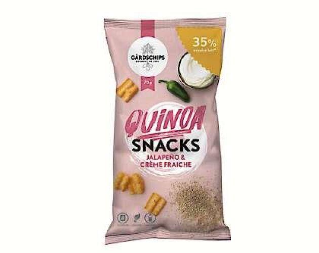 Quinoasnacksen är både veganska och glutenfria.