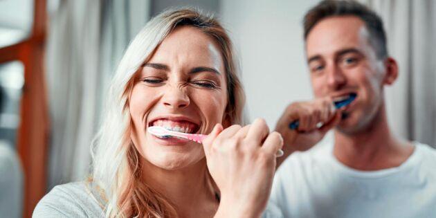 Därför ska du inte skölja munnen efter tandborstning