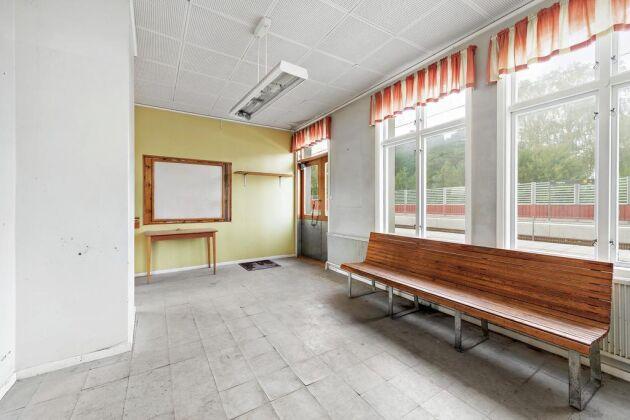 Ett klassikt väntrum i gammal stil.