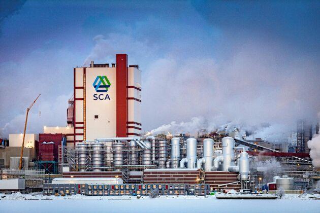 SCA:s anläggning i Östrand.