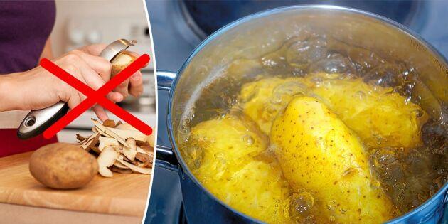 Därför ska du koka (och äta) potatis med skalet på!