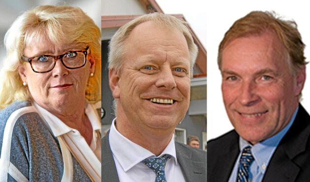 Lena Ek, ordförande Södra Skogsägarna, Per Lindahl, ordförande Lantmännen, och Lars Öhman, ordförande Landshypotek.
