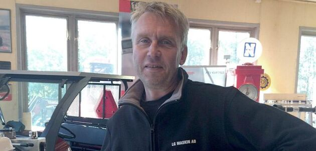 Tomas Gustavsson på LG Maskin i Smålandsstenar.