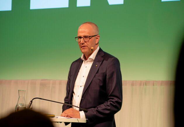 Palle Borgström tog upp vildsvinsfrågan i sitt inledande tal.