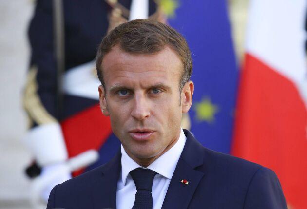 Emanuel Macron, Frankrikes president, fick se sitt förslag skjutas i sank.