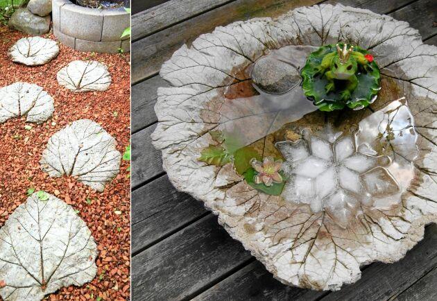 Bladigt trädgårdspyssel med rabarber.