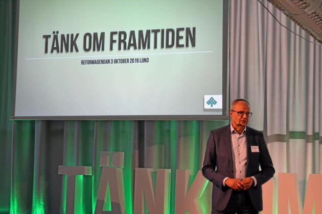 Förbundsordförande Palle Borgström betonade vikten av att ha konsumenternas förtroende i arbetet med att stärka lantbrukets konkurrensförmåga.
