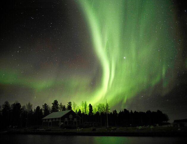 Norrsken syns mest och bäst under vintern.
