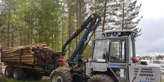 Unik skogsmaskin testas i skarpt läge