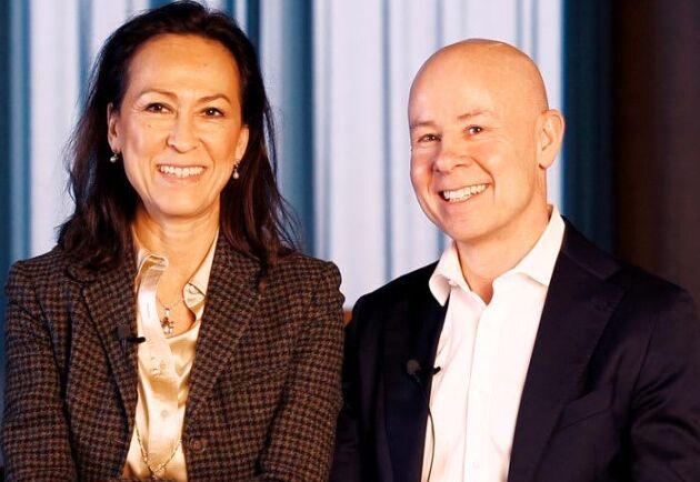 LRF Konsults avgående VD Katarina Klingspor, tillsammans med tillträdande Rickard Westlund.
