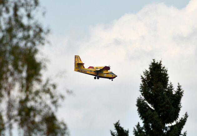 MSB vill se till att Sverige har tillgång till egna brandbekämpningsplan, likt de italienska plan som hjälpte till att bekämpa skogsbränderna sommaren 2018. Arkivbild.