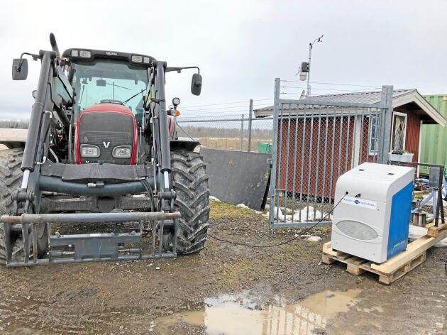 Valtra var tidigt ute med att utveckla egna modeller som går på biogas.