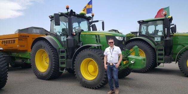 Svensk bland topp tre i Europa på traktorkörning