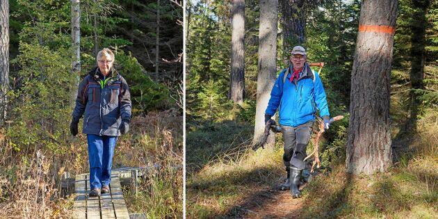 Peter och Karin volonterar – så att du kan vandra Sörmlandsleden!