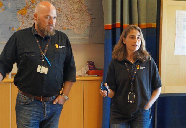 Leif Felton, länsveterinär, och Paula Hultgren, stf chef för djurskyddsinspektörerna i Skåne.