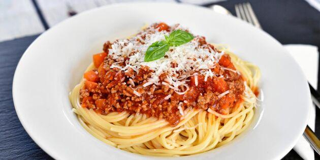 Spagetti med köttfärssås – enkelt grundrecept