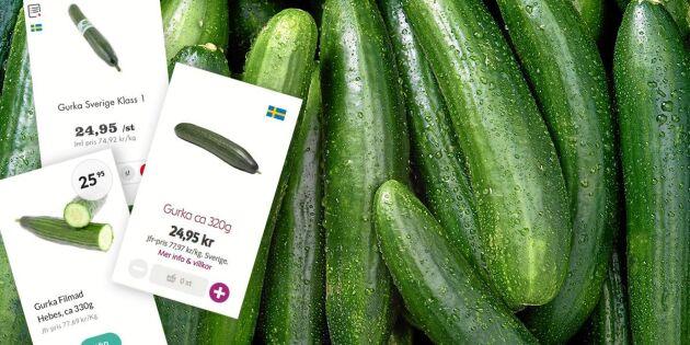 Skyhögt prisrus: Därför är gurkan ovanligt dyr just nu