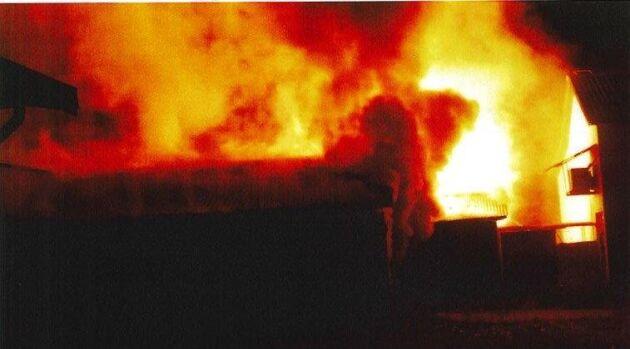 En av de tilltalade filmade branden på minkfarmen. Arkivbild.