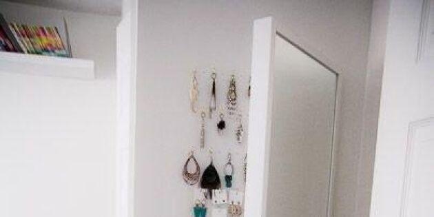 Gömma smycken med vikspegeln Stave