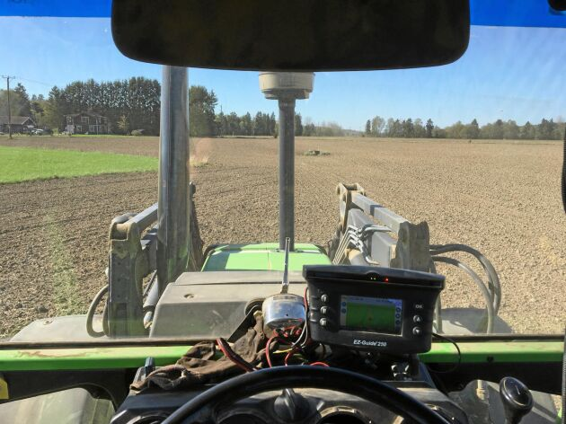 Harvning med Deutz. Gps Trimble 250