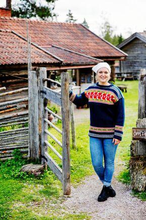 Anna älskar att jobba med kor, mjölk och ystning - och utbildade sig till småskalig mejerist .